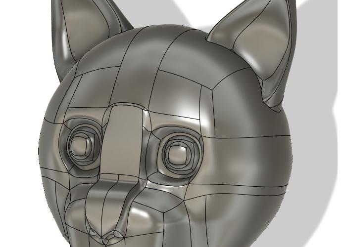 Fusion360 フォームモデリング練習。うちの猫を描いてみる No2